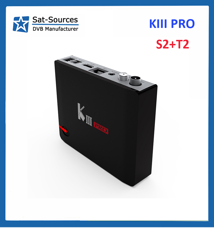 KIII K3 pro android box with DVB T2 S2 with Amlogic S912 Octa Core for tv box android 6.0