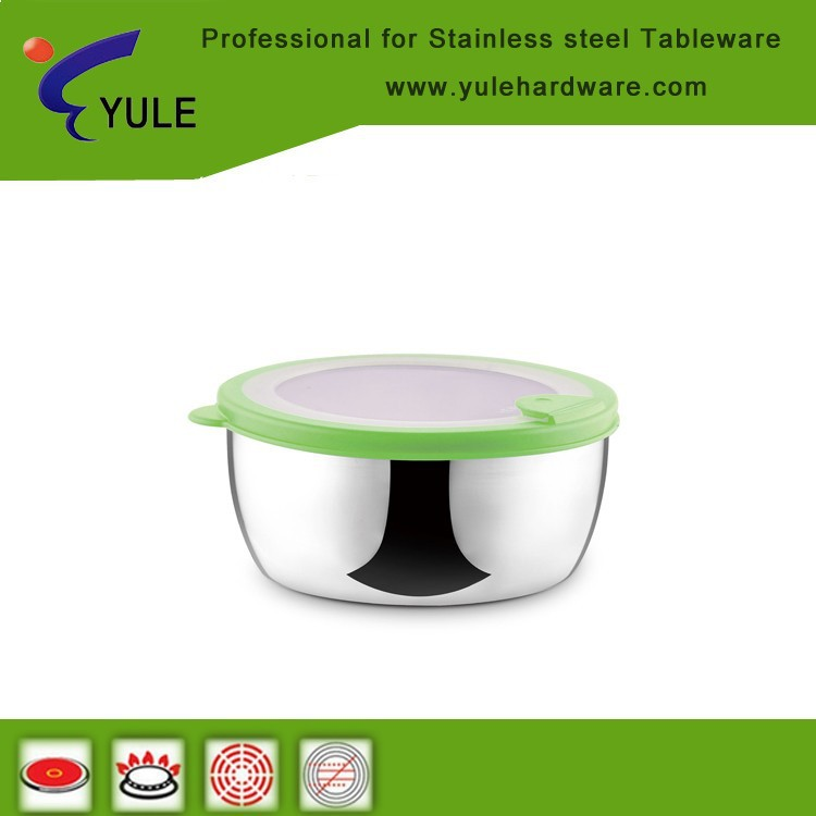 Round sharp healthy metal material food warmer container for kitchen use
