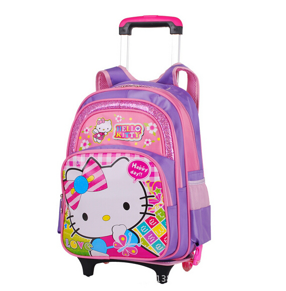Get Quotations · Wheel Trolley luggage pink blue Children Kids Girls Boys hello  kitty cartoon bags 5c2adf7393776