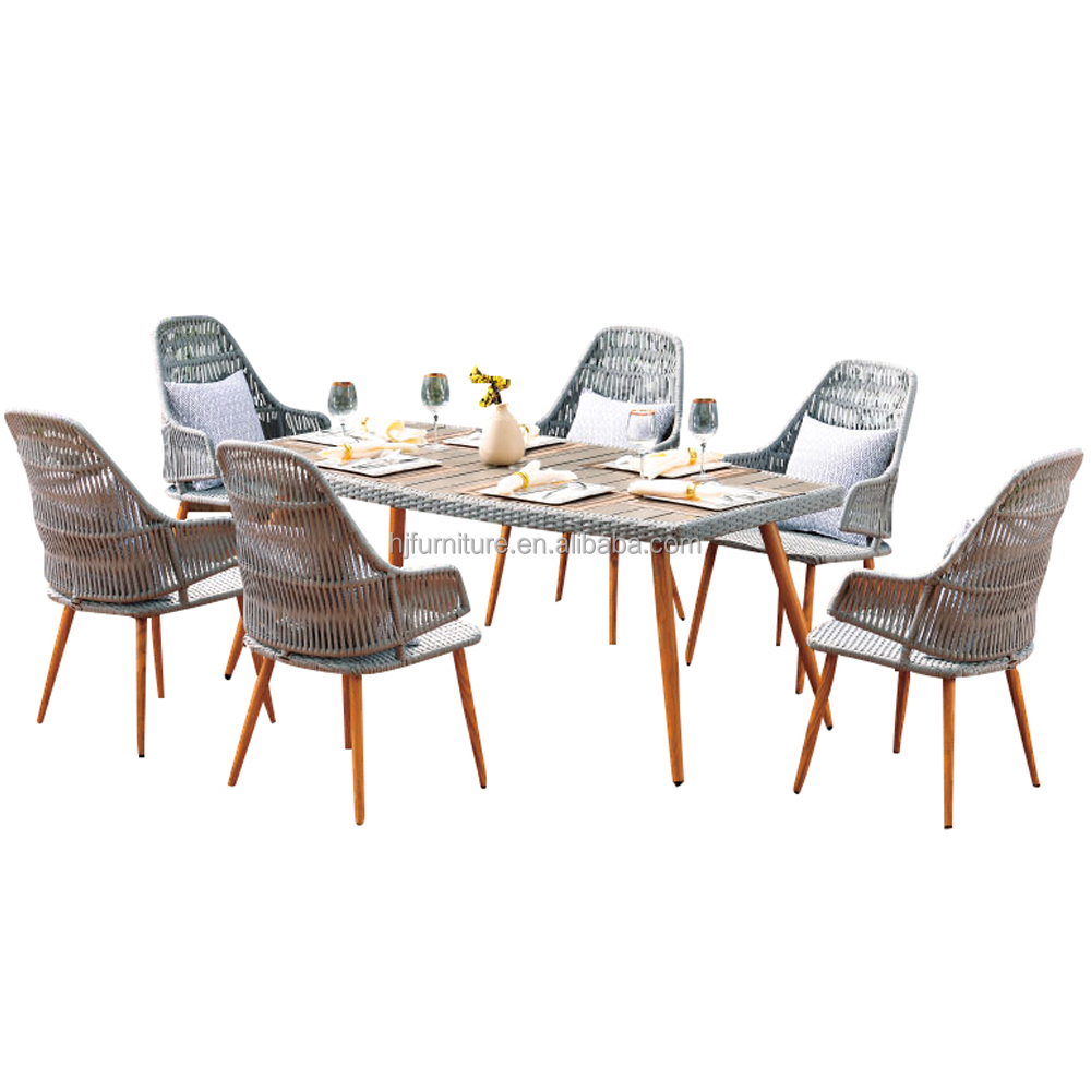unique design patio dinning set Rattan wicker garden dinner table set