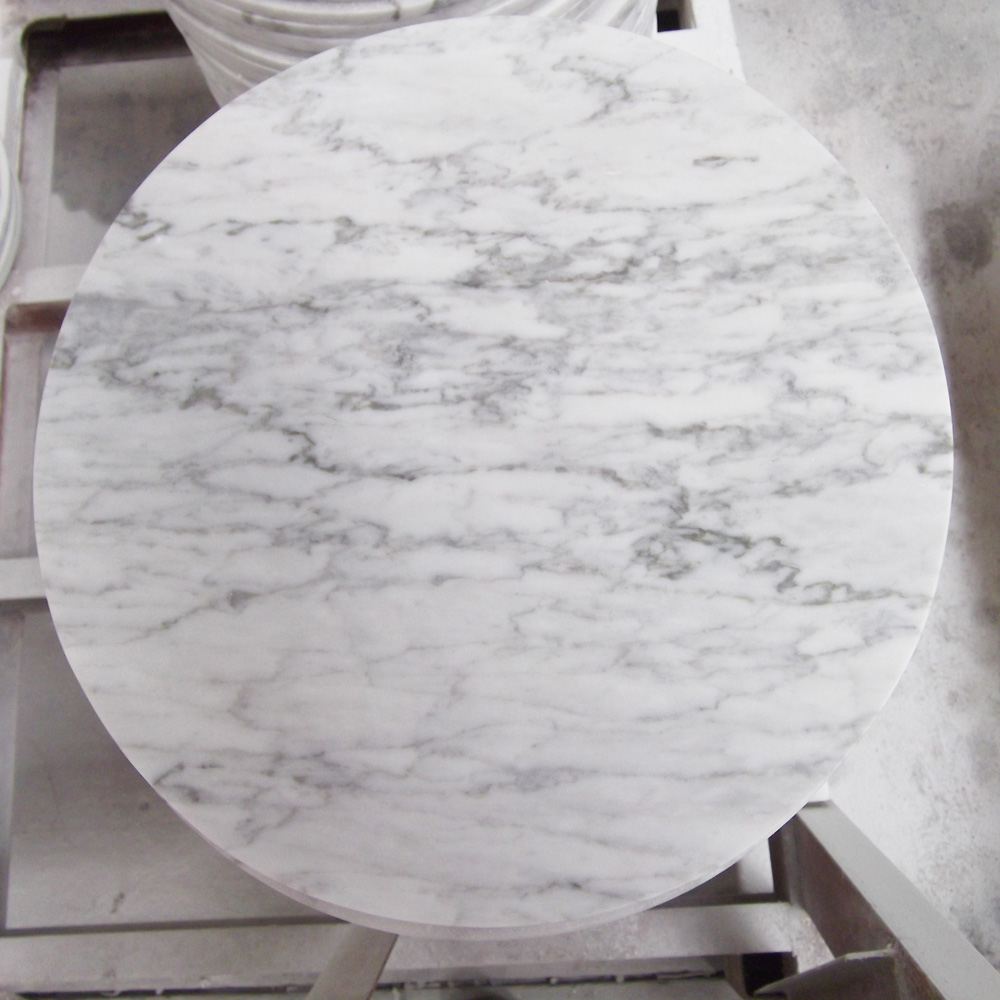 Asia Carrera Marble 36x36 bianco carrera marble slab hotel coffee bar dining modern round table  top - buy hotel coffee bar dining modern table top,round marble slab table