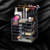 2016 fashionable wholesale acrylic makeup organizer with 4/5/6 drawers