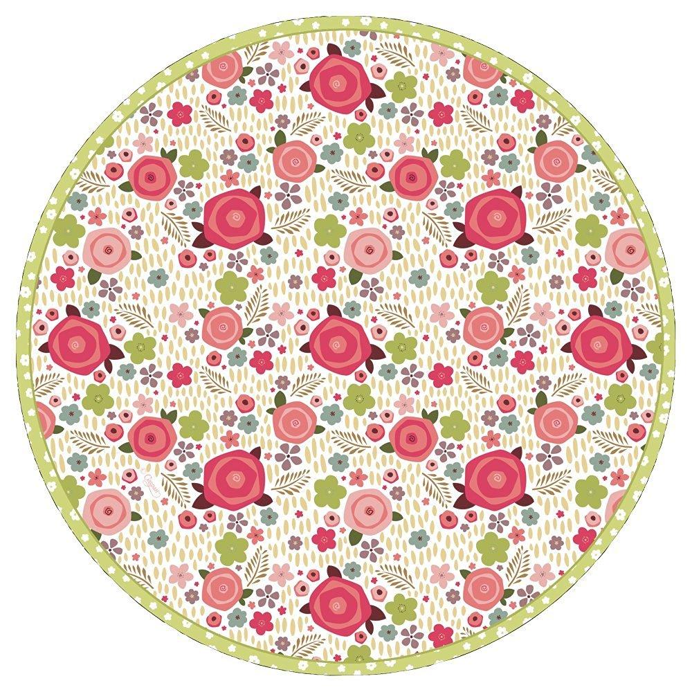 Entertaining with Caspari Rosie Paper Salad/Dessert Plates, Pack of 8