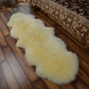custom dye color soft wool blanket sheep skin fur rug