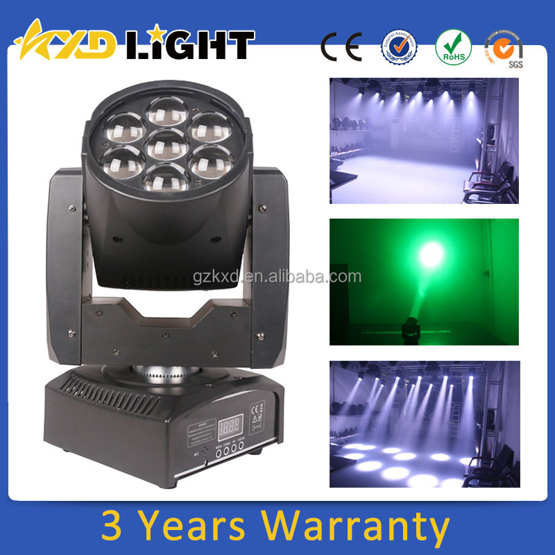 Disco 7 PCS 12W Beam Moving Head Light High Power RGBW LED Zoom Party Light For Stage Decoration