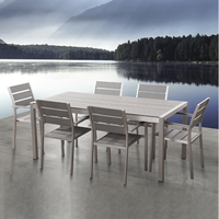 China Manufacturer garden Aluminum brushed table and chair wilson and fisher patio furniture outdoor cheap poly wood dining set