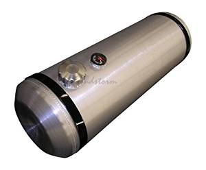 Sandstorm 12x40 End Fill Round Spun Aluminum Gas Tank with Site Gauge- 19 Gallon - Dunebuggy - Trike - Sandrail - Offroad - Made in the USA!