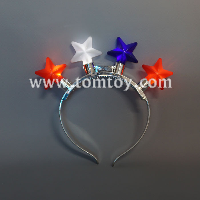 Tomtoy Christmas LED Light up Stars Headband