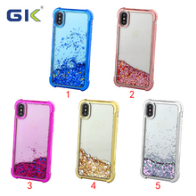 [GK] Trending Hot Products Electroplated Transparent Liquid TPU Phone Case For iPhone X
