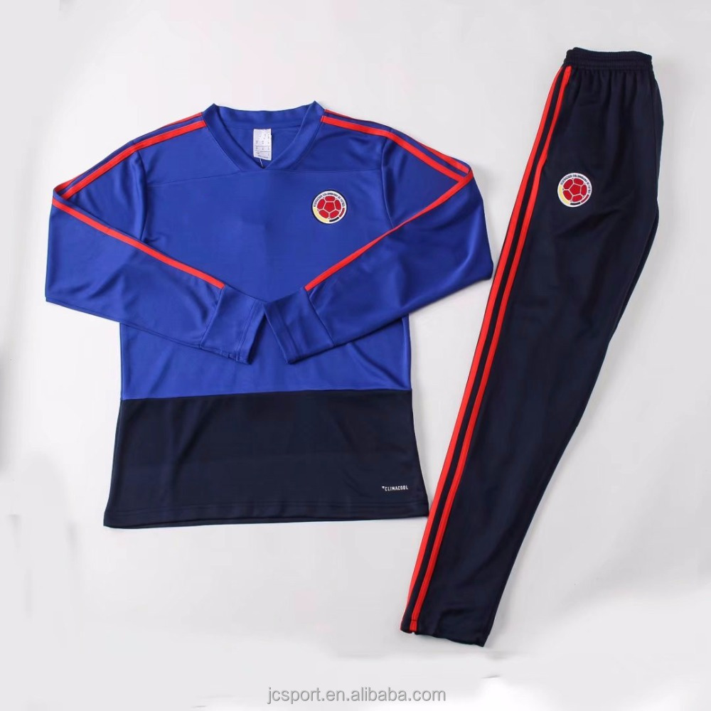 Soccer Tracksuit 2018 World Cup Colombia National Team Wholesale Football  team Tracksuit 3617fdc6e4a6