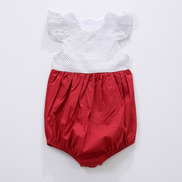 Wholesale Printed Summer Fancy Newborn Baby Girl Clothes Romper