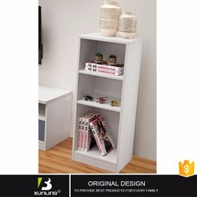 Low Living Room Bookcase Cabinet With Drawer White