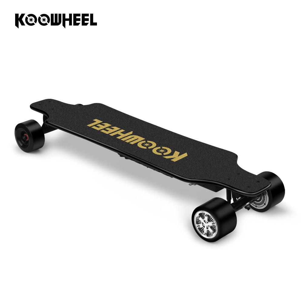 koowheel kooboard 4 four wheels portable electric skateboard dual motor taiwan, Black;red;blue;green;orange;white