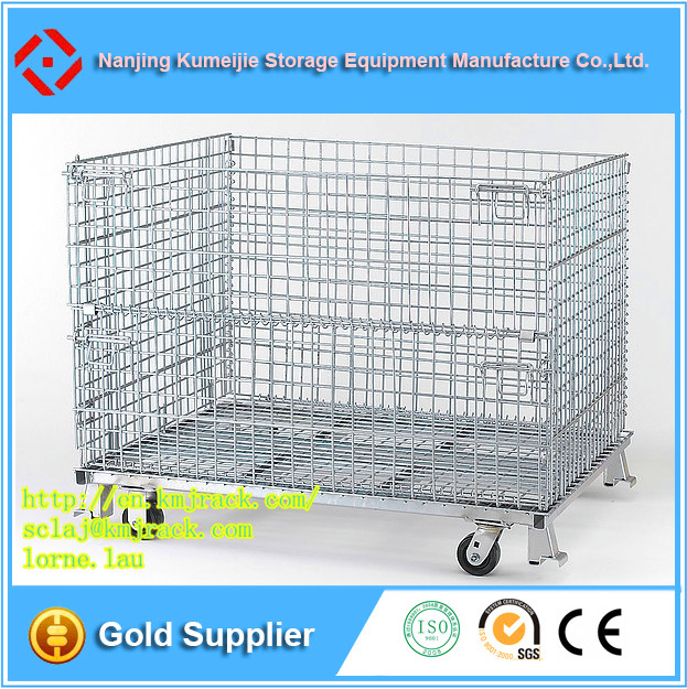 Alibaba Foldable Steel Welded Warehouse Storage Large Wire Mesh Cage