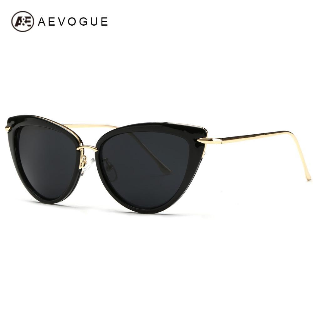 AEVOGUE Newest Alloy Temple Sunglasses Women Top Quality Sun Glasses Original Brand Designer Gafas Oculos De