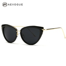 AEVOGUE Newest Alloy Temple Sunglasses Women Top Quality Sun Glasses Original Brand Designer Gafas Oculos De Sol UV400 AE0269