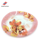 2017 Trading agent in china New 12 inch printed flower three measure shape glass plate