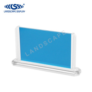 New design sublimation 3d clear acrylic 7 inch photo frame stand