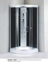 round corner shower units