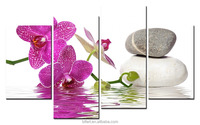 4pcs Single Panel Bright Flower tulip 3D Sculpture printed Oil Painting Beautiful on Canvas Home Decor Wall Art Crafts Wide