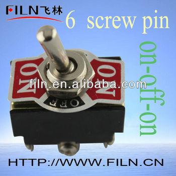 way toggle switch wiring image wiring diagram 6pin 3 way waterproof 3 position toggle switch wiring buy toggle on 6 way toggle switch