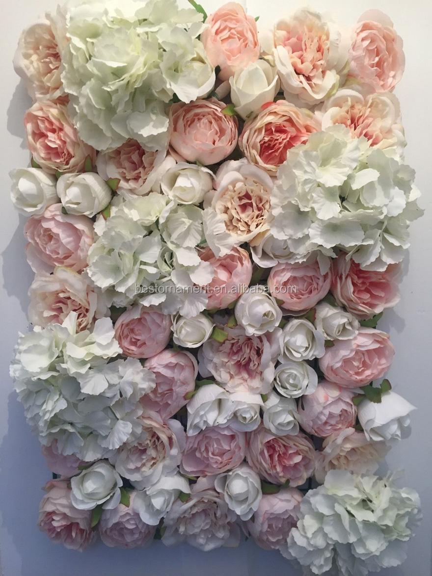 Rose Et Ivoire De Mariage Fleur Artificielle Mur Avec Panneaux Buy