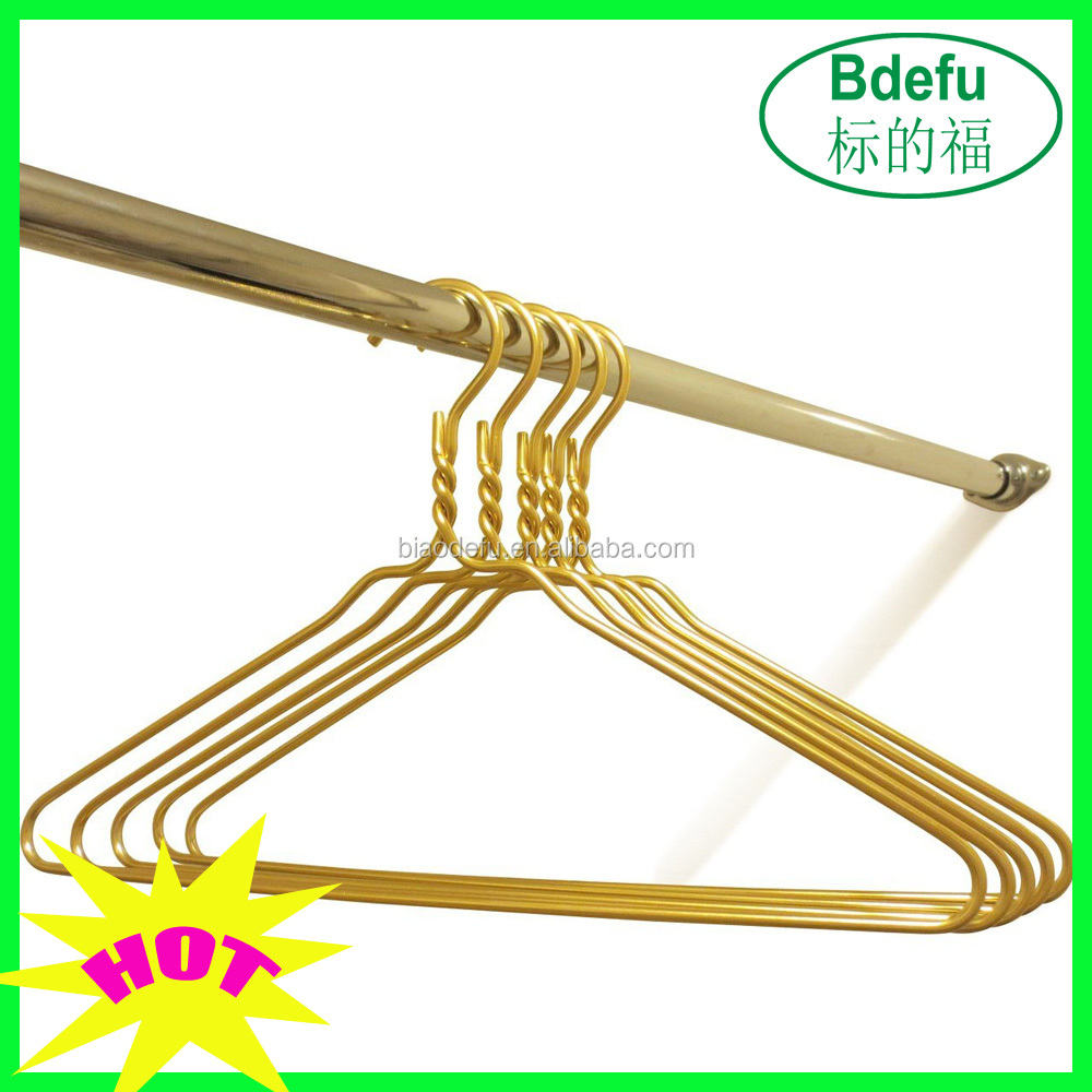 Beautiful Gold Aluminum Metal Coat Hangers Heavy Duty Suit Hangers   Buy  Beautiful Gold Metal Hanger,Metal Coat Hanger,Heavy Duty Suit Hanger  Product ...