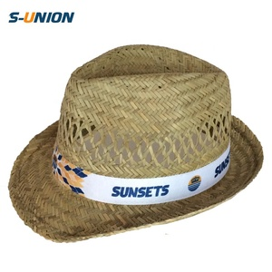 47c2315ae Wholesale Chinese cheap promotion plain custom mens narrow brim summer  natural straw cool sun hat