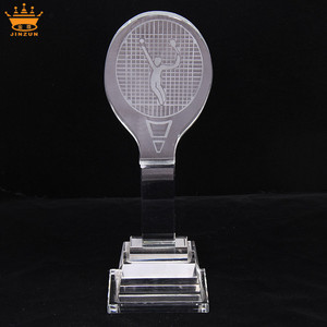 Import China best sell prestige crystal tennis trophy and awards