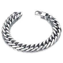 Free shipping 2015 NEW HOT SALE fashionable stainless steel men's bracelets rock style PUNK C719