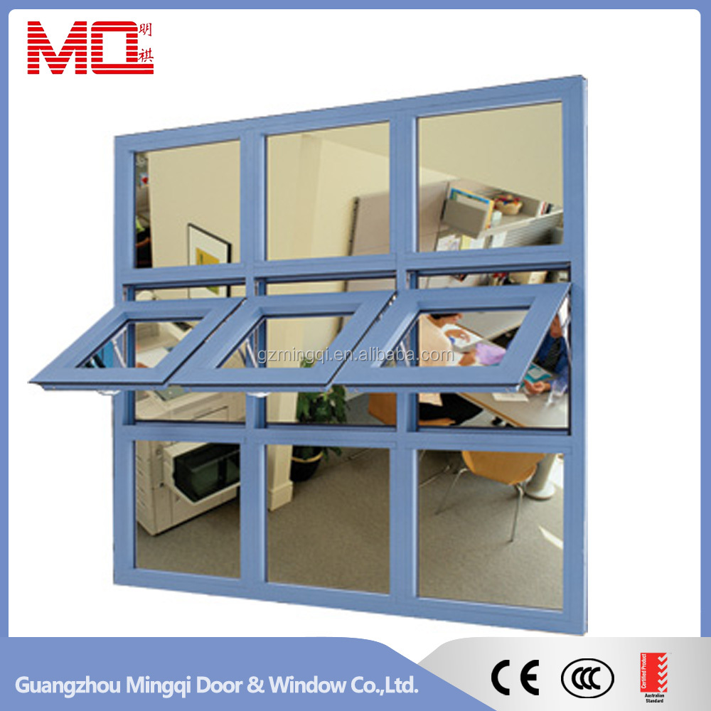 Good quality aluminum awning window top hung window factroy in Guangzhou