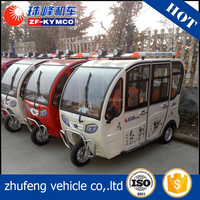 Cheap three wheel enclosed motor handicapped motorcycle rickshaw tricycle