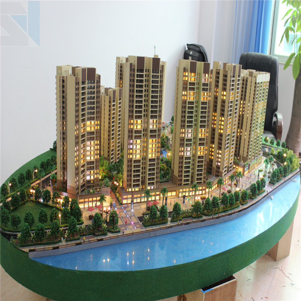 Architectural building model supplier 1 100 scale for green house architectural 3d model maker