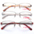 FEROCE STOCK PROMOTIONALbrand spectacles frames retro metal eyeglasses cheap stainless steel optical glasses