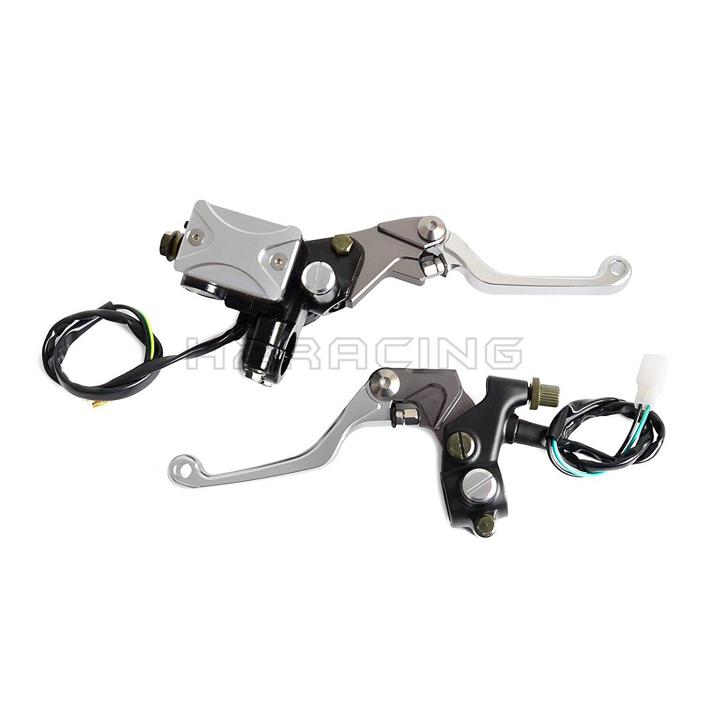 """H2RACING 7/8""""(22mm) Silver Brake Master Cylinder Lever Clutch Lever for Yamaha YZ80/85/125/250,YZ250F/426F/250FX,YFZ450 WR250F/450F/250R,X SEROW 225/250 TTR250/600 XT250X TRICKER DT230 LANZA"""