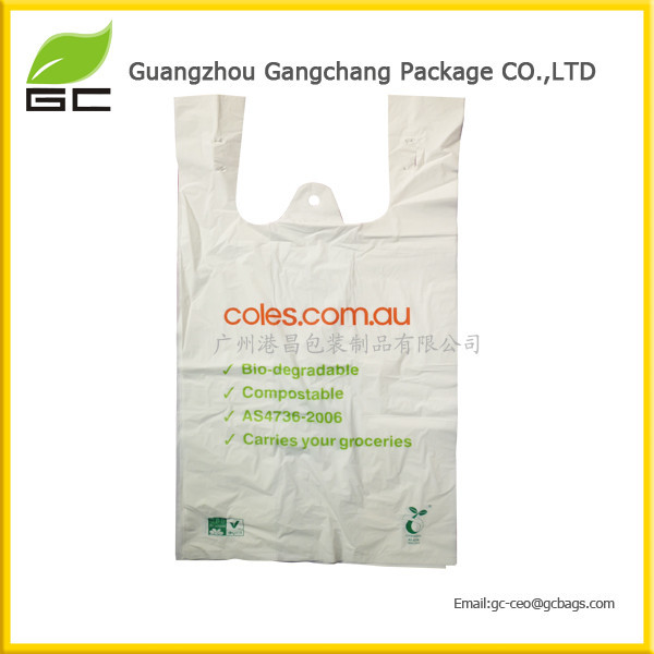 High quality T-Shirt plastic bag biodegradable food packaging