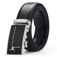 Alloy Auto Buckle Smooth Strong Man Leather Belt