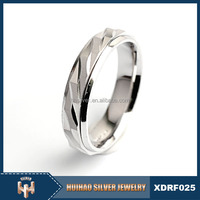 wholesale new design plain style men ring 100% real value silver ring 925 stamp