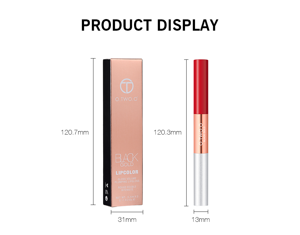 O.TWO.O Gloss & Matte 6 Color Waterproof Liquid Lipstick 2 in 1
