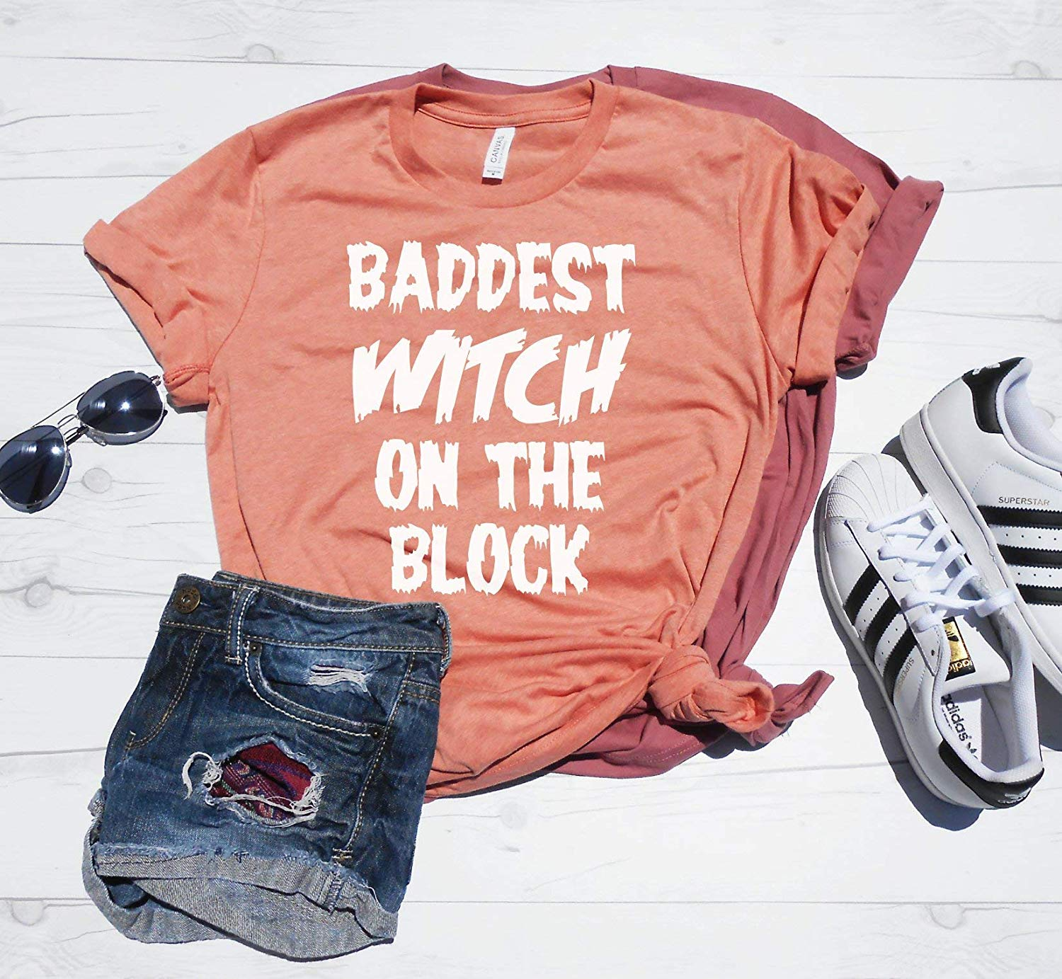 Baddest Witch on the Block T-Shirt, Cute Halloween Shirt, Halloween Shirt, Halloween tee, Unisex Fit, Mom Halloween Shirt, Witch Shirt, Bad Witch