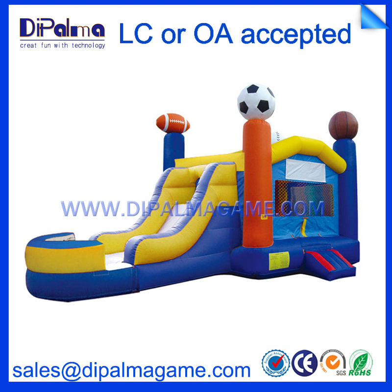<strong>Inflatable</strong> jumping slides for outdoor center <strong>inflatable</strong> bouncer