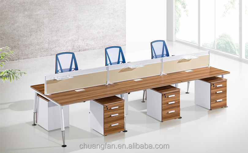 CF 2 Person Melamine Workstation Furniture Office Employee Desk