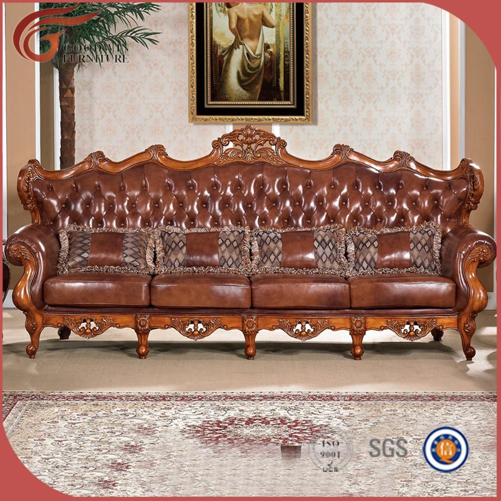 Mano De Madera Tallada Sof Antiguo Antiguo Sal N Sof Muebles  # Muebles Tallados A Mano