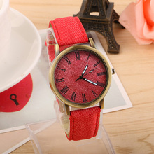 China watch factory American unisex leather watch strap simple antique quartz watch