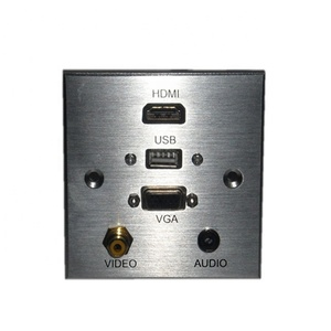 Lulink Rj45 86Type network faceplate, USB/HDM/VGA/Network/AV/Telephone Wall socket,Modules Face Plate