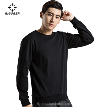 Wholesale Crewneck Sweatshirt Black Sports Sweater Shirt for Men