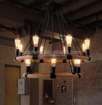 Home Decoration Country Style Loft Indoor Vintage Rattan Pendant ...