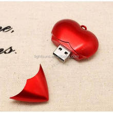 New Fashion Red Heart Pendant USB 2.0 Memory Stick Flash pen Drive 8G USB drive
