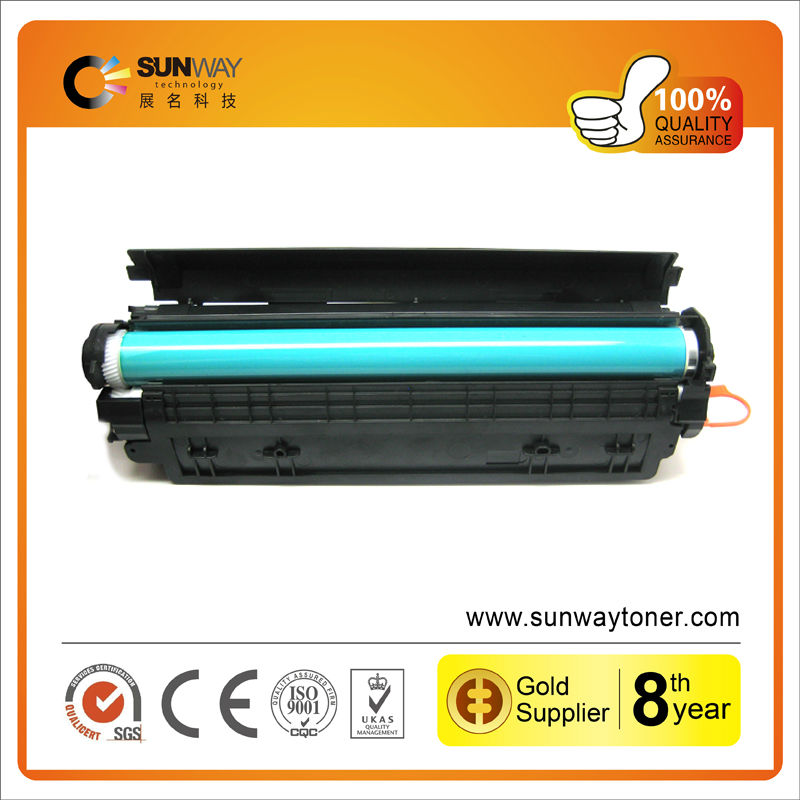 Hot empty inkjet and toner cartridges CB436A used for HP Laserjet P1505/P1505n/M1120/M1522