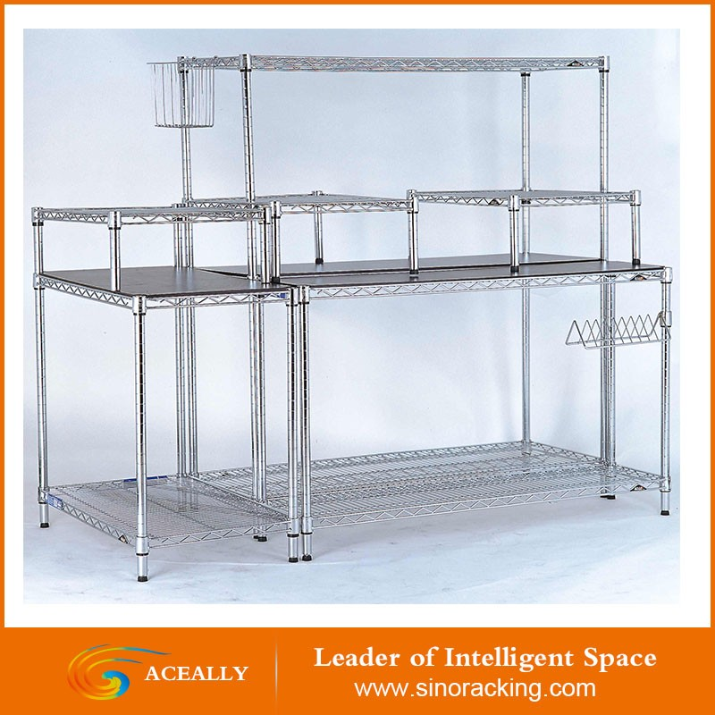 Aceally approved metal adjustable steel wire modular storage shelving